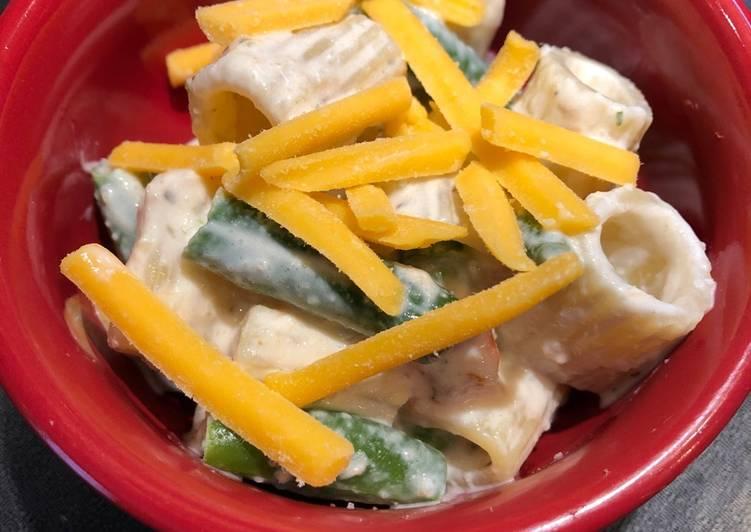 Quick Creamy Italian Tuna Pasta Salad