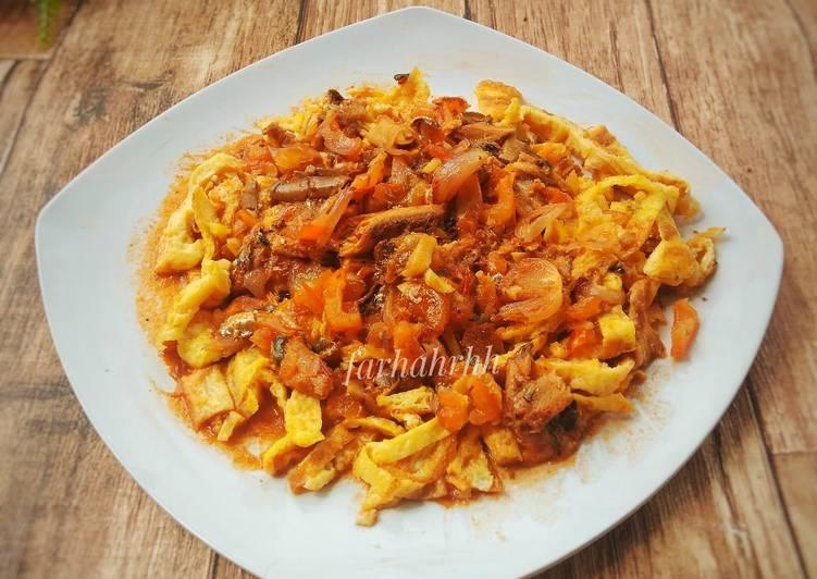 Spaghetti Telur (Topping Sarden Tomato)