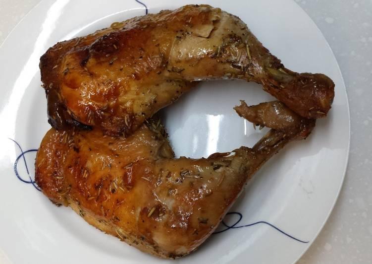 Paha ayam bakar rosemary lemon