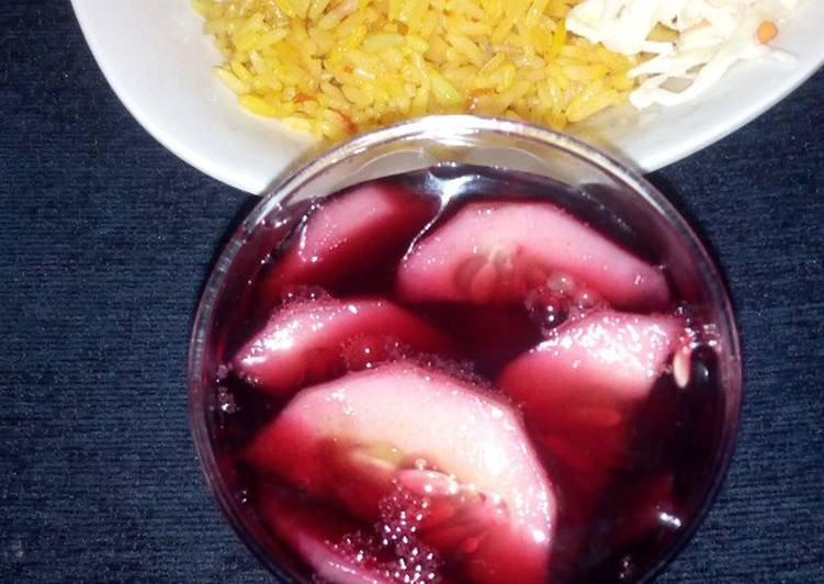How to Make Top-Rated Plain jollop rice with coleslow and zobo
