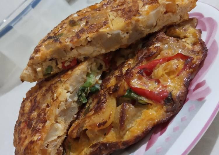 Omlete Bakso Sayur