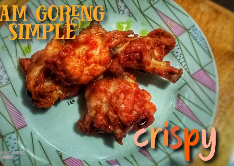 Ayam goreng simple crispy