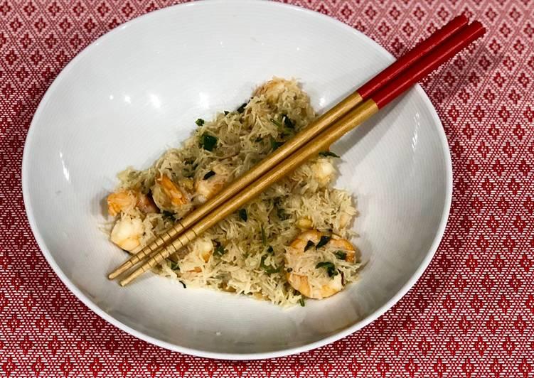 Comment Servir Wok de crevettes à la coriandre