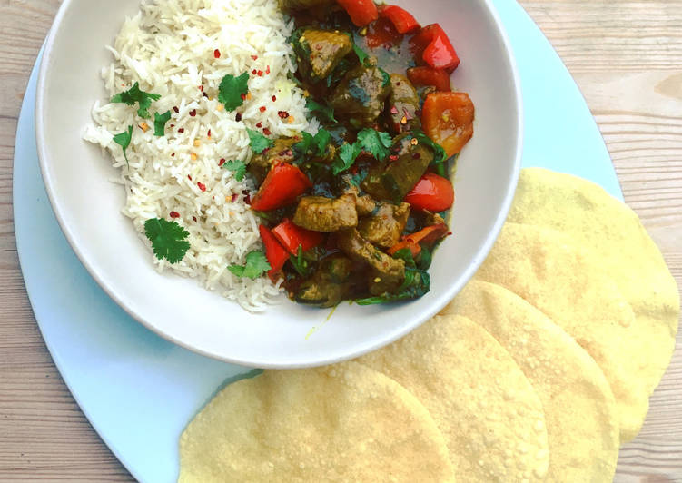 Sticky Lamb Coconut Curry