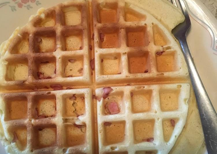 Ham waffles