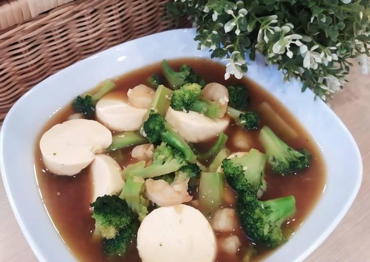 Sup Tofu Brokoli Udang