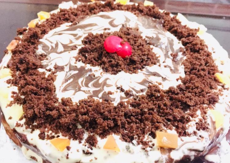Eggless Black Forest Cake 🎂