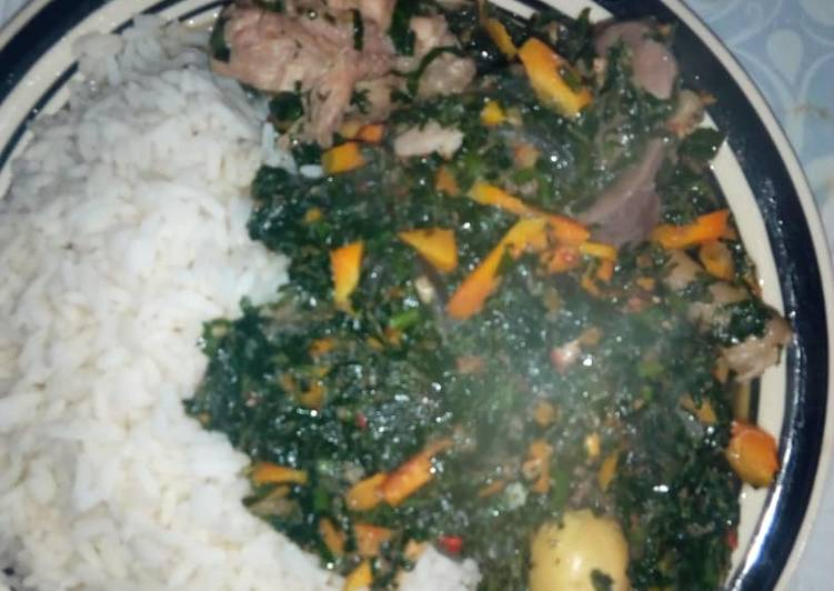 White rice and vegetable sauce - Laurie G Edwards
