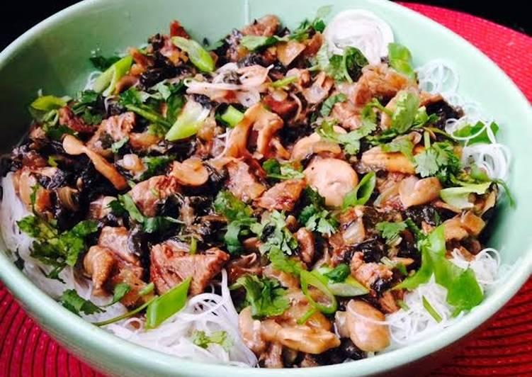 Beef, Mushroom & Kale Stir fry