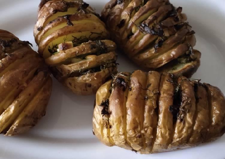 Spiral baked potato