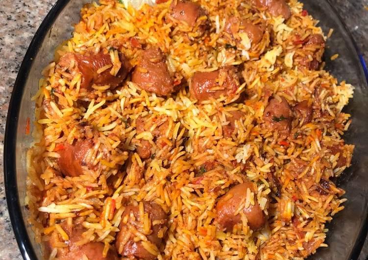 Sausage Mixed Rice #uniquericerecipe