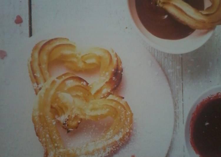 Churros au four en forme de cœur
