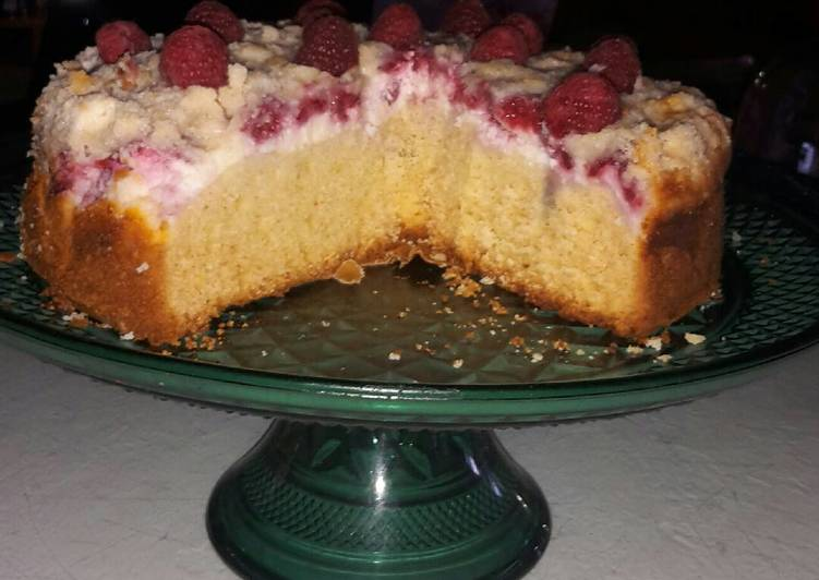 Easiest Way to Cook Yummy Raspberry Cream Coffee Cake