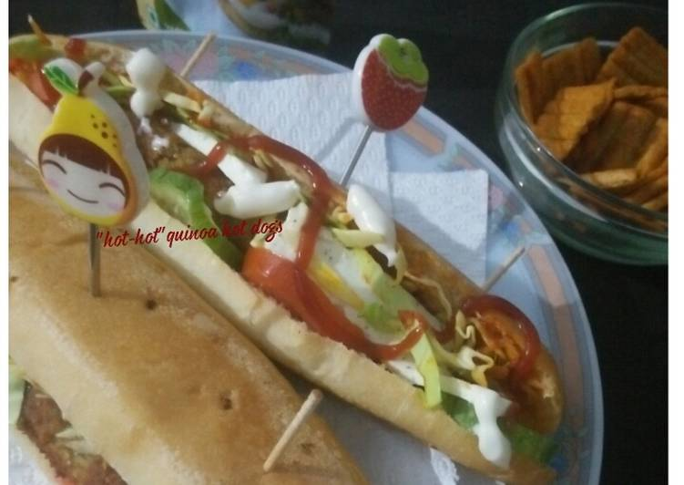 Hot-hot quinoa hot dogs with nutri &flax