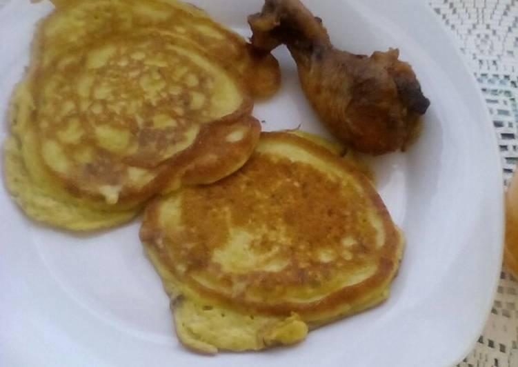 Egg and Avocado pancakes for breakfast