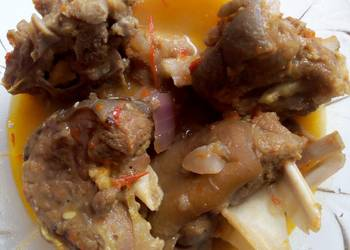 Easiest Way to Prepare Delicious Goat meat pepper soup surprise
