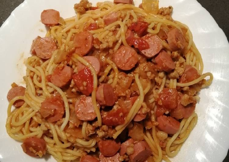 Chicken Sausage Spag
