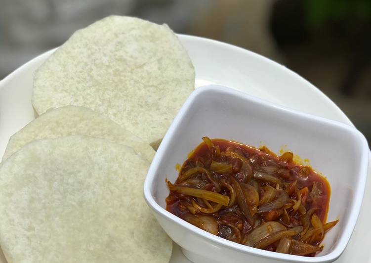 Best Comfort Dinner Easy Quick Boiled yam and palm oil sauce