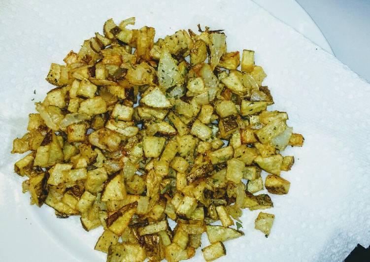 Recipe: Yummy Seasoned Onions & Potatoes