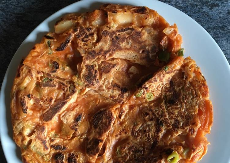 Try Using Food to Elevate Your Mood Kimchi Pancakes
