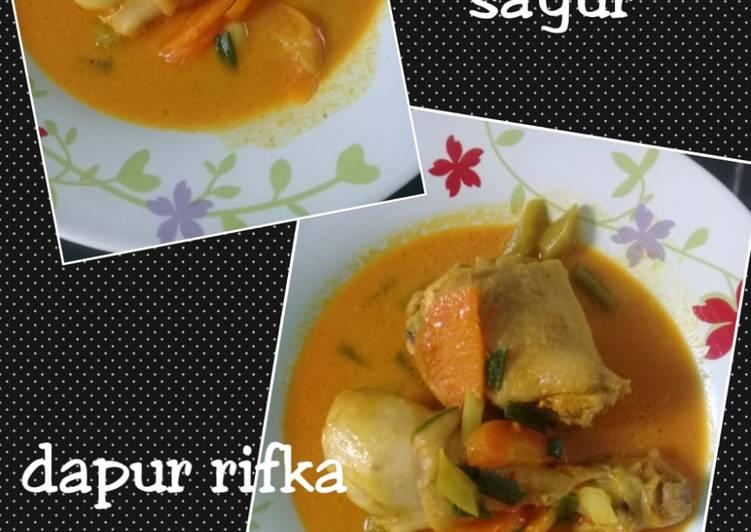 Resep Kare ayam + sayur yang Bikin Ngiler