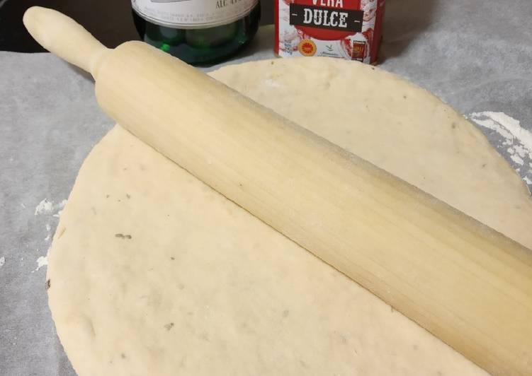 Masa de pizza con masa madre, sidra y pimentón dulce
