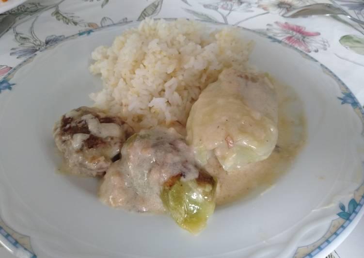 Daging balut sayur kubis (Kohlrouladen)