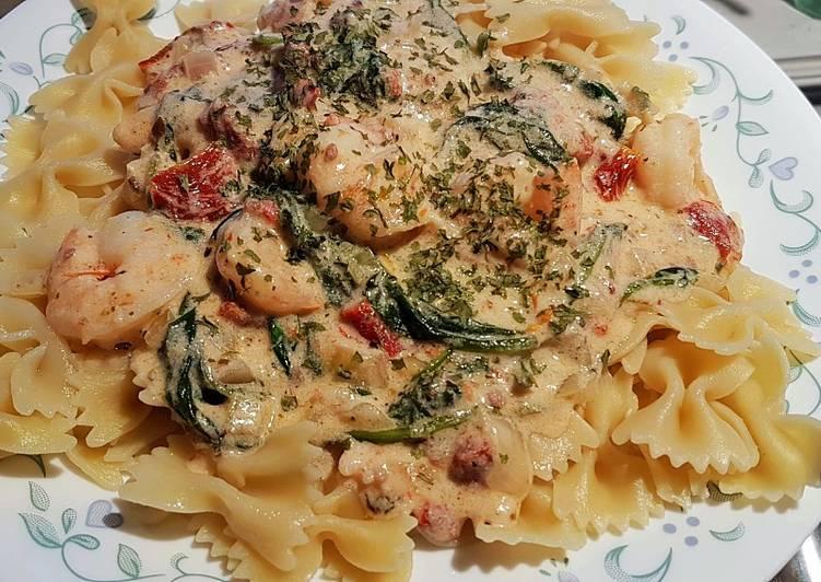 Tuscan Garlic Shrimp