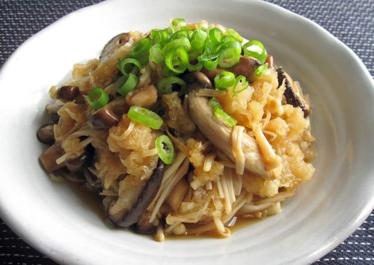 Recipe: Perfect Asian Mushrooms & Grated Daikon Ponzu Salad