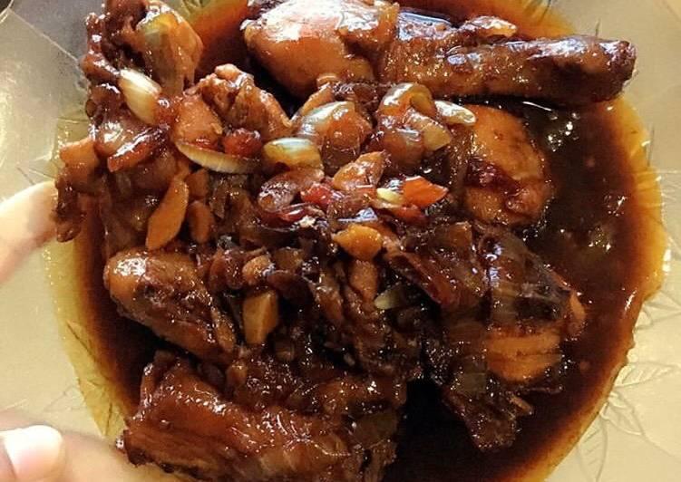 Ayam Kecap Pedas Manis (Praktis lhoo..)
