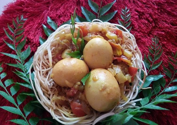 Egg nest.. (Noodles egg basket)