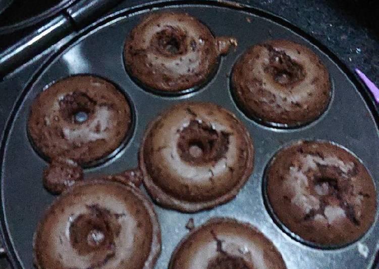 Choco Downies (Donat Brownies)