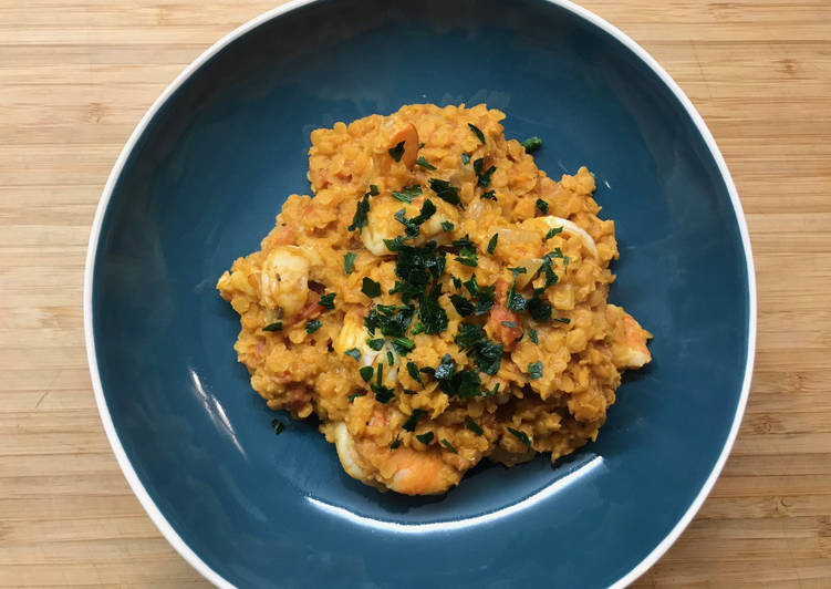 La Délicieuse Recette du Curry de Lentilles corail au lait de Coco et Crevettes
