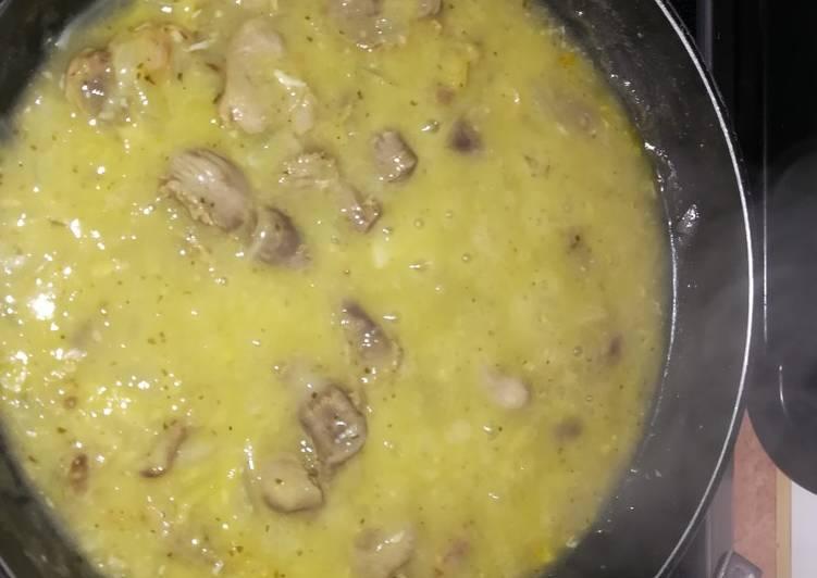 Mollejas De Pollo En Verde Receta De Ersebi Cookpad
