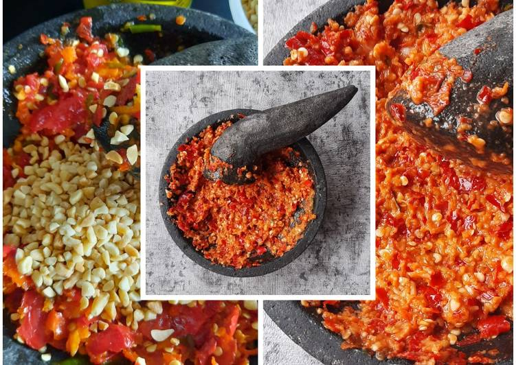 Resep Sambal: Sambal Ulek Kacang