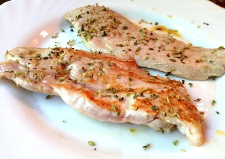 Ternera blanca a la plancha con orégano (dieta)