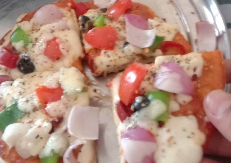 Simple Way to Make Super Quick Homemade Yummy pizza with homemade base