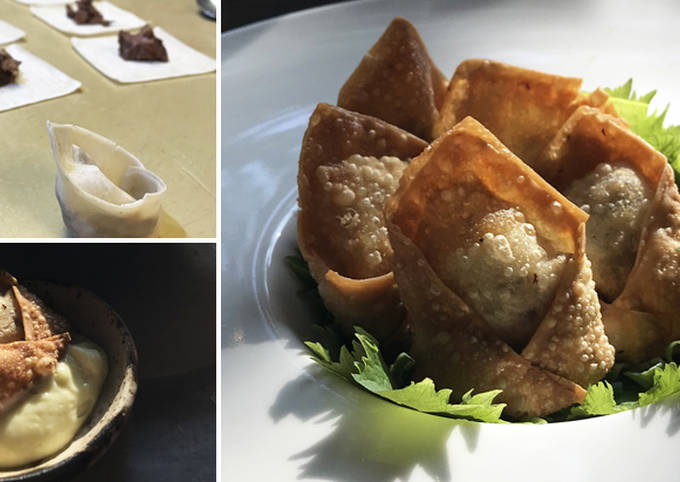 Southwestern Wagyu Beef Wontons with Lime Chipotle Crema