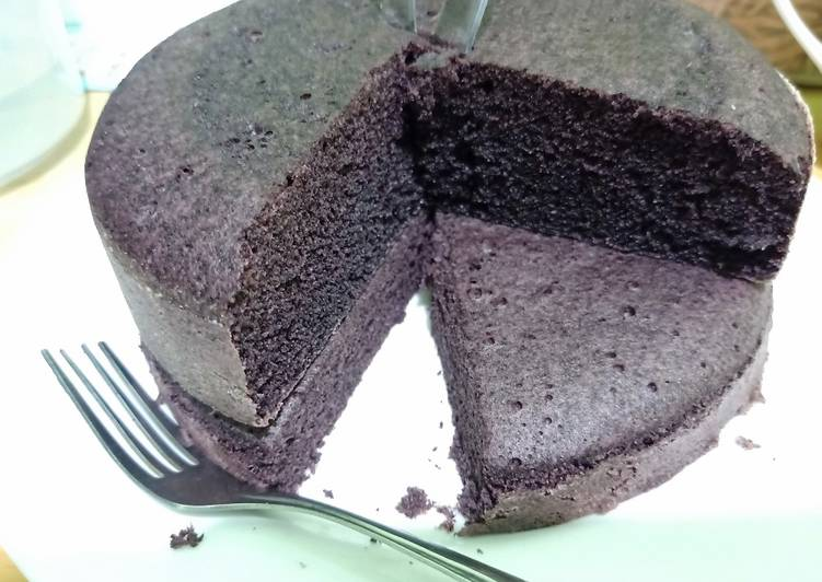 cara buat Bolu ketan hitam penuh cinta - Sajian Dapur Bunda