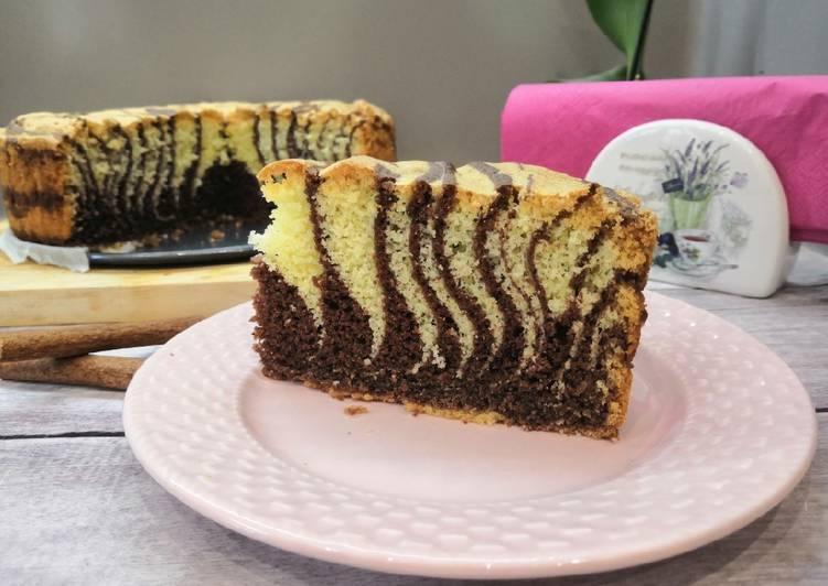 Gluténmentes zebratorta recept foto