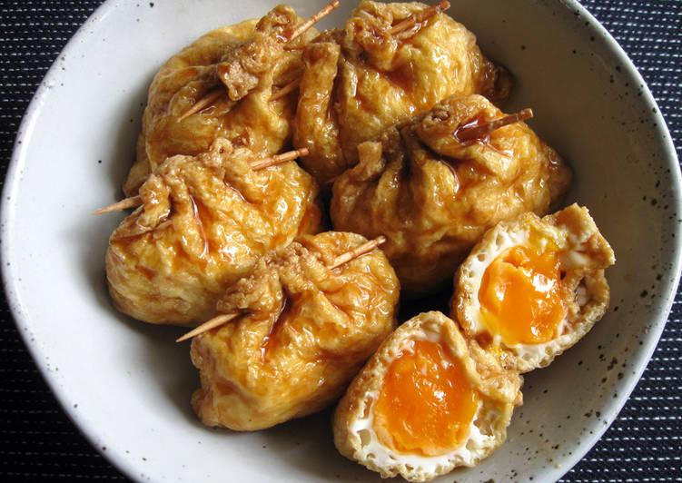 Egg in Abura-age (Thin Fried Tofu)