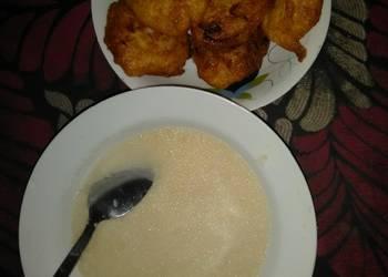 How to Recipe Appetizing Garri and water yam akara
