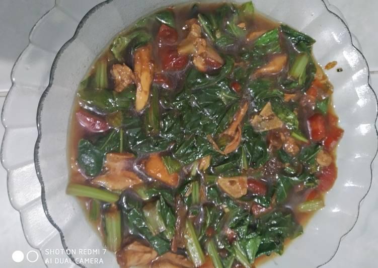Cah Sawi Hijau Kecap Ayam Suwir