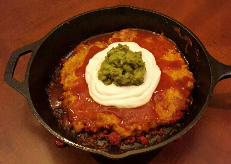 Easiest Way to Prepare Perfect Cast Iron Skillet Layered Nacho Dip