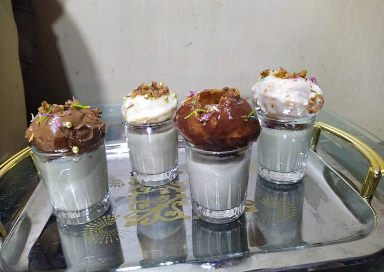 Recipe of Award-winning Golgappa dessert with paan shots
