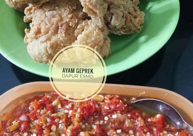 Resep Sambal Ayam Geprek, Enak