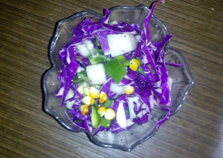 Step-by-Step Guide to Prepare Homemade Purple cabbage salad