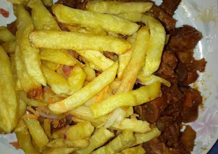 Recipe of Speedy Stir fry beef with Fries