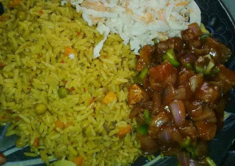 Easiest Way to Prepare Award-winning Fried rice and coleslaw