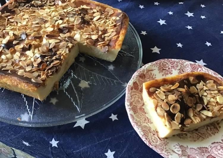 Recette: Flan au chocolat blanc et amandes